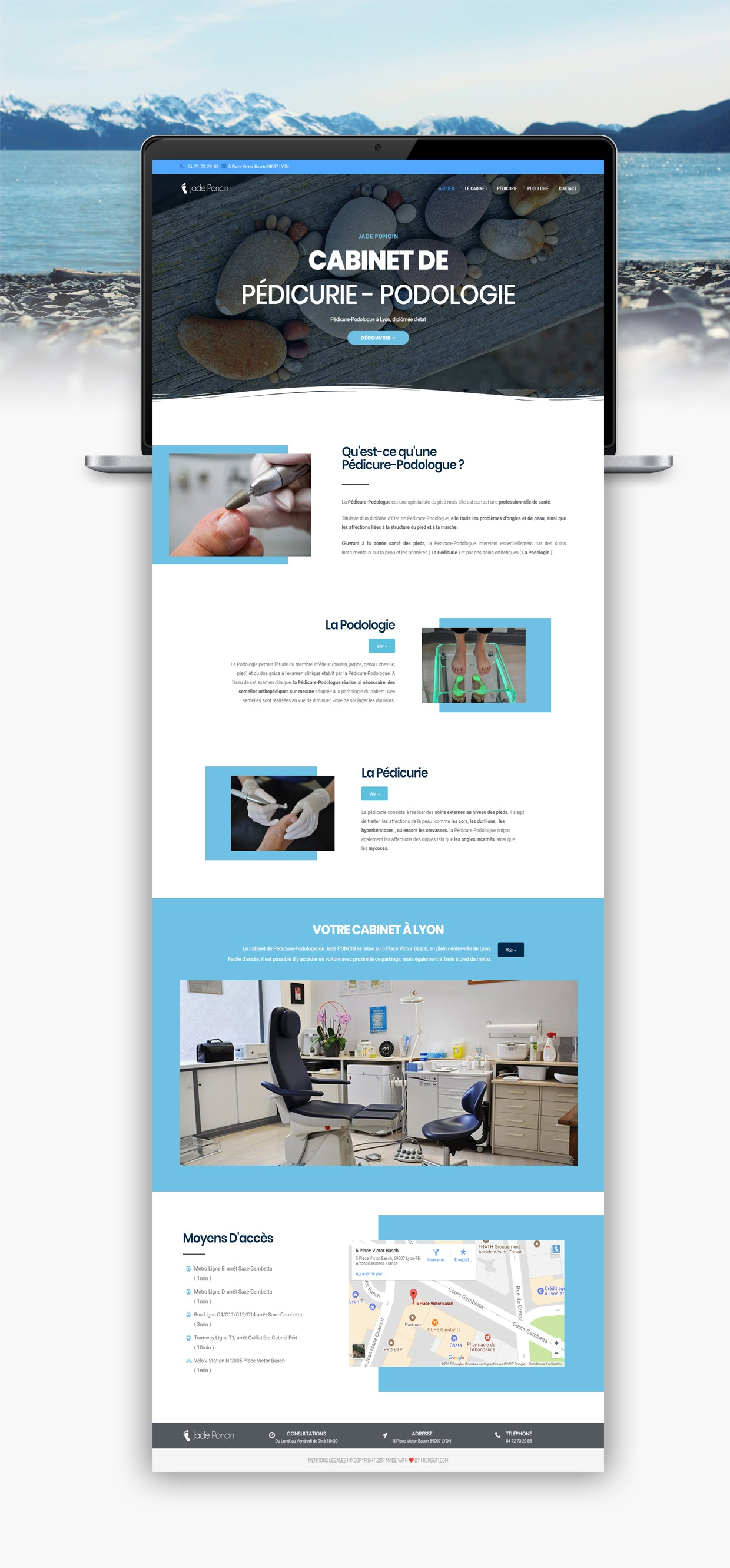 JadePoncinPodologue-Bigornot Site internet - Design - Site e-commerce