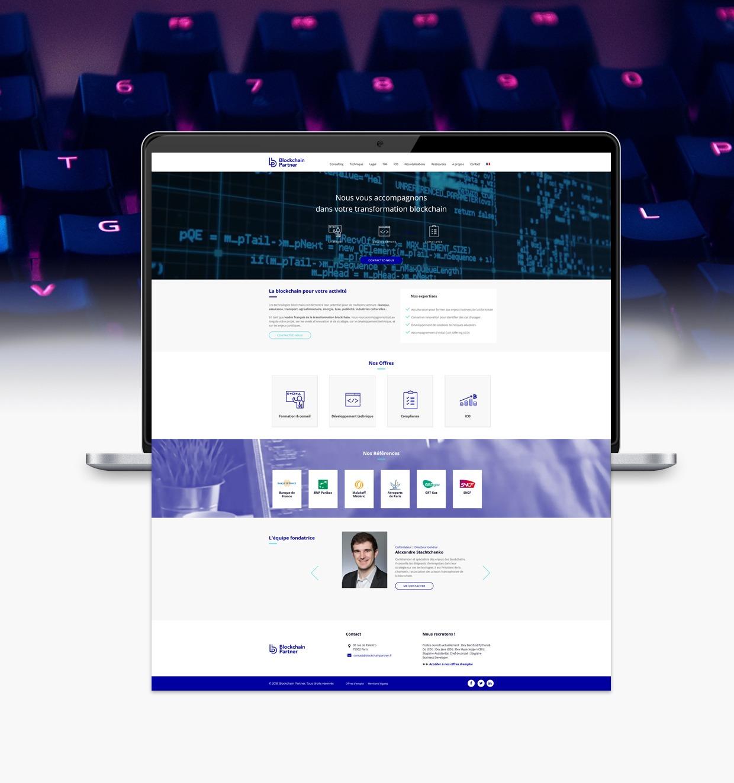 BlockchainPartner-BigornotCollectif Site internet - Design - Site e-commerce
